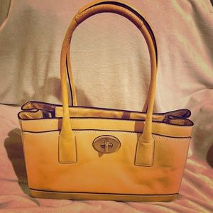 Coach Light Tan Madeline handbag (like new)
